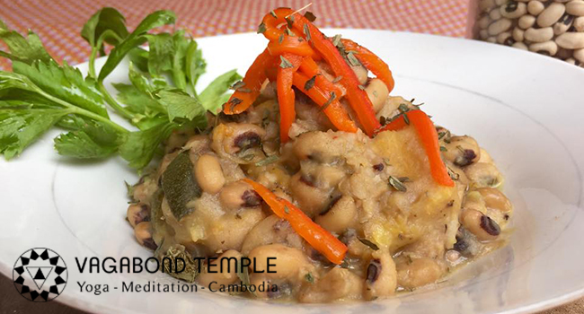 Black-Eyed Beans With Coconut Cream