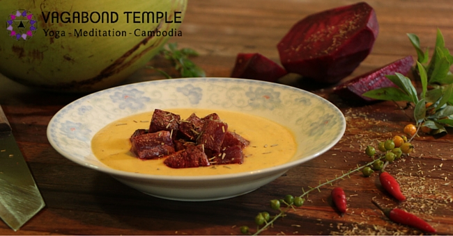A Recipe for Beetroot with Potato Cream
