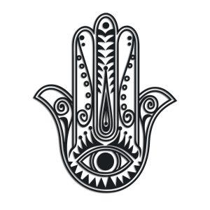 hamsa hand with evil eye