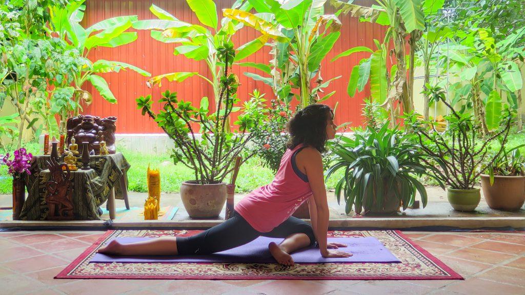Awake pigeon in Yin Yoga