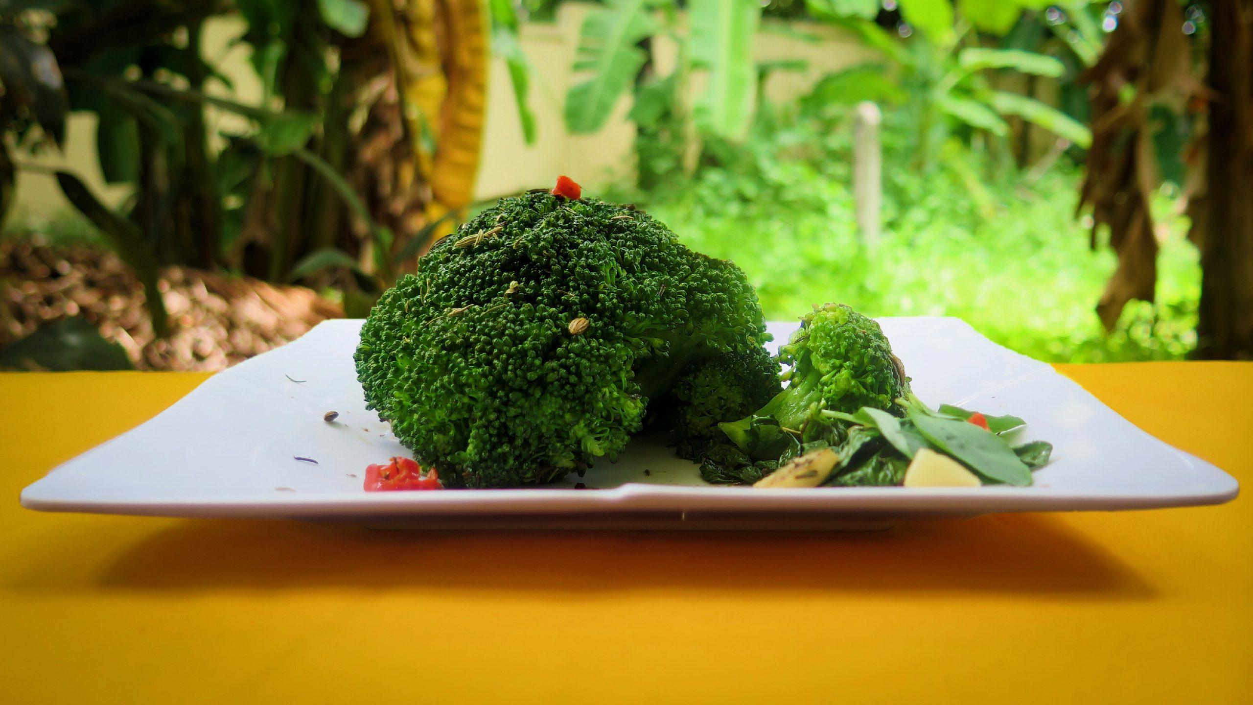 Whole Pan-Roasted Broccoli